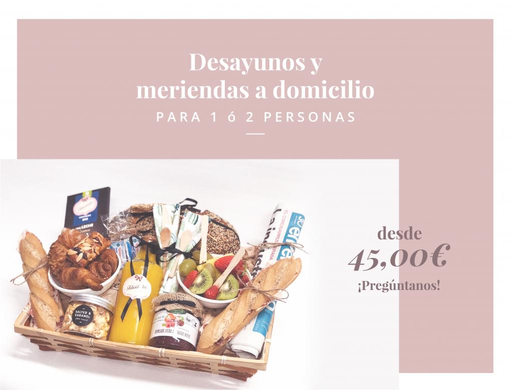 Desayunos y meriendas a domicilio en Zaragoza
